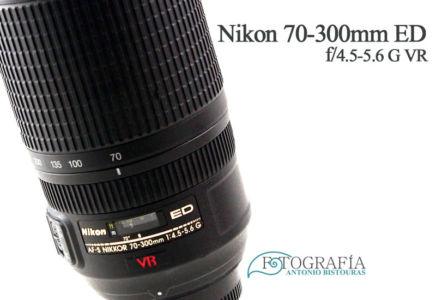 Objetivo Nikon 70-300mm ED f/4.5 VR