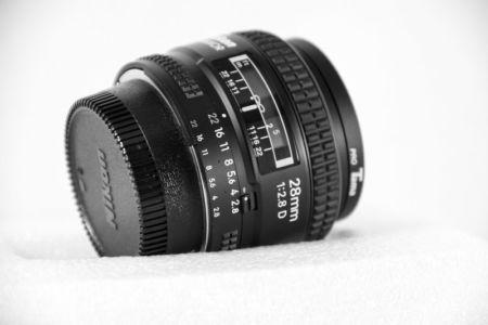 Objetivo 28mm para Nikon. Fotografía de productos