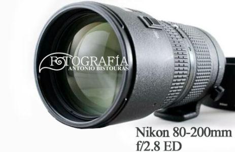 Objetivo Nikon 80-200mm f/2.8 ED